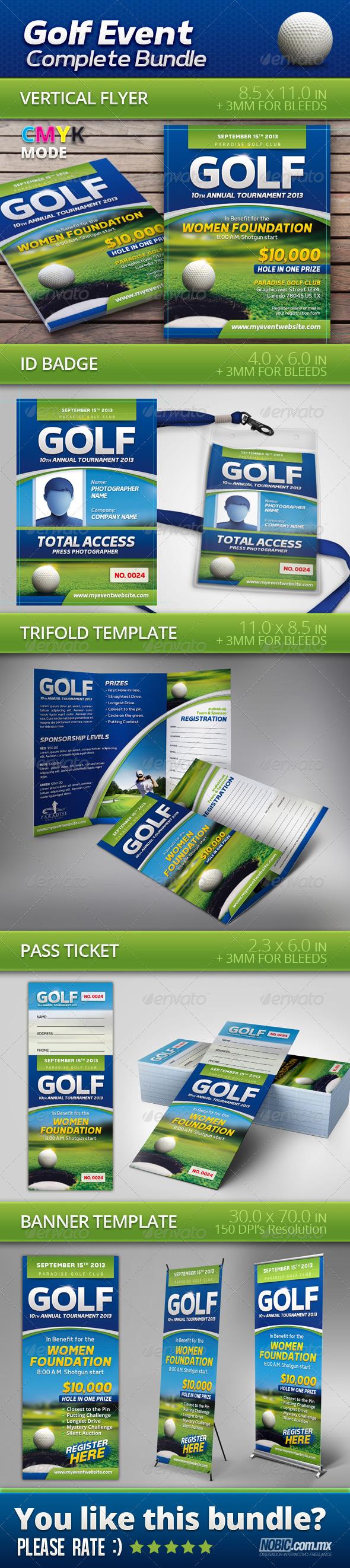 Golf Event Complete Bundle - Sports Events