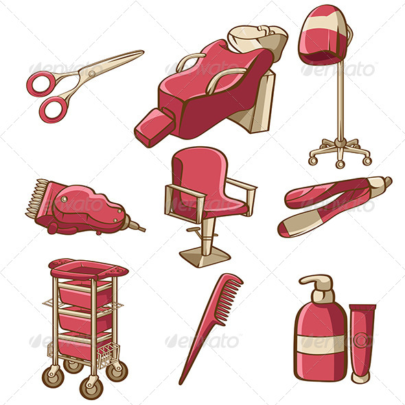 Barbershop Icons - Objects Vectors