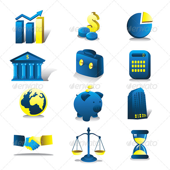 Finance Icons - Business Conceptual