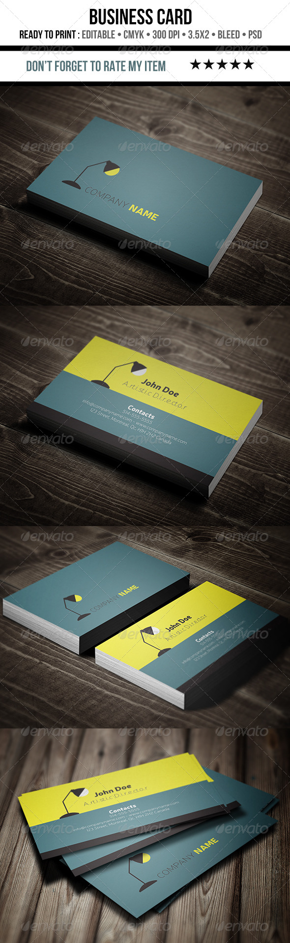 Flat, Minimalist and Creative Business Card - Creative Business Cards