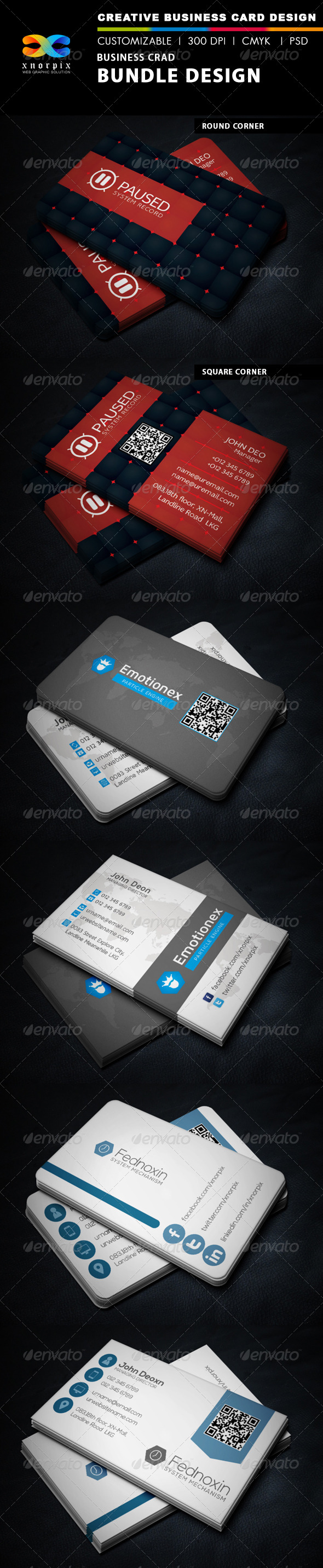 Business Card Bundle 3 in 1-Vol 35 - Corporate Business Cards