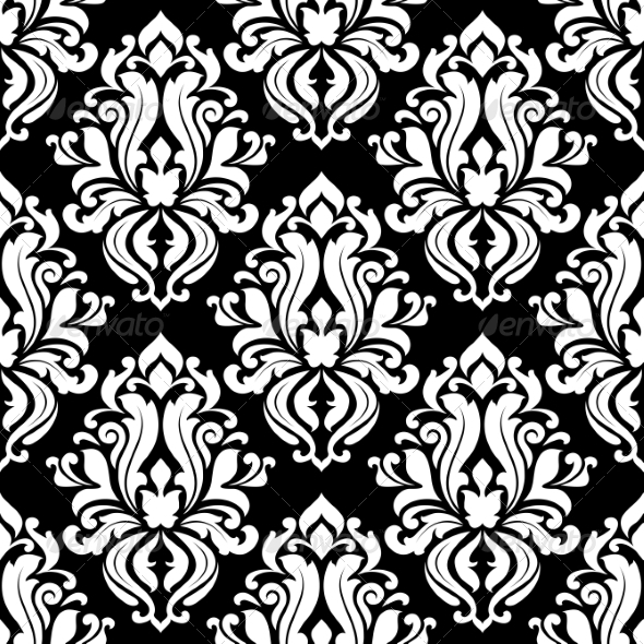 Retro Black and White Seamless Pattern - Patterns Decorative