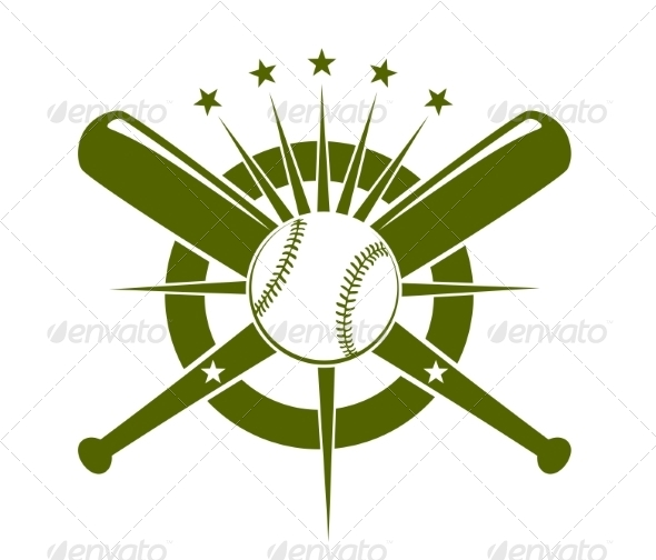 Baseball Championship Icon or Emblem - Sports/Activity Conceptual