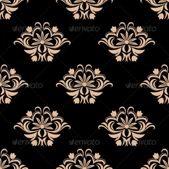 Vintage Seamless Pattern Background - Patterns Decorative
