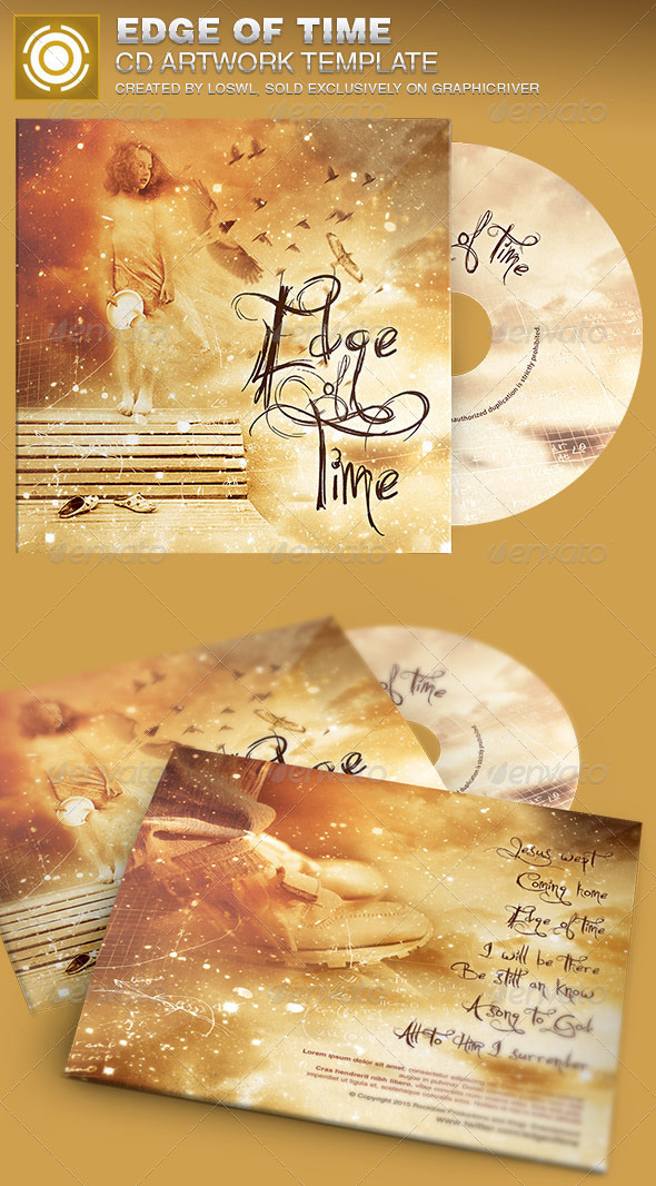 Edge of Time CD Artwork Template - CD & DVD Artwork Print Templates
