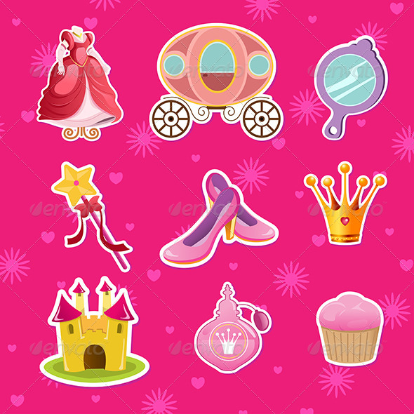 Princess Icons - Objects Vectors