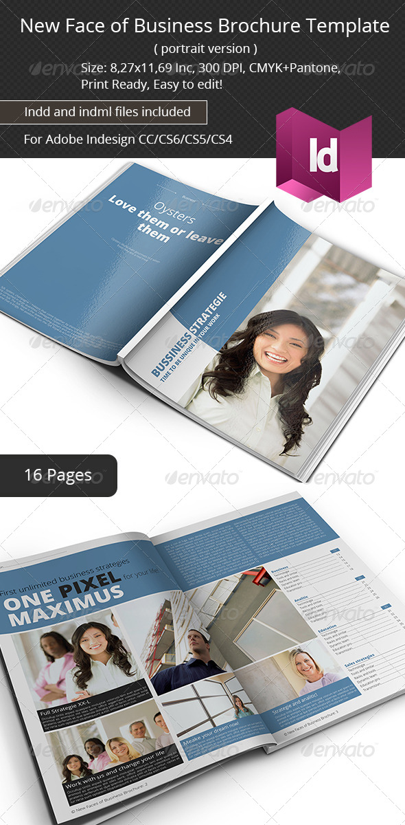 New Face of Business Brochure Template - Corporate Brochures