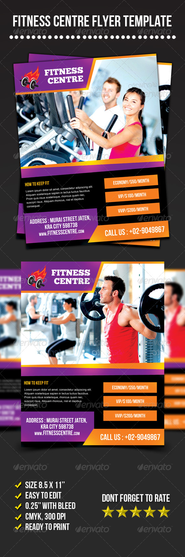 Fitness Centre Flyer - Sports Events