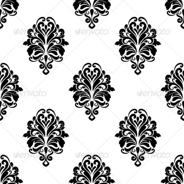 Damask Pattern Background - Patterns Decorative