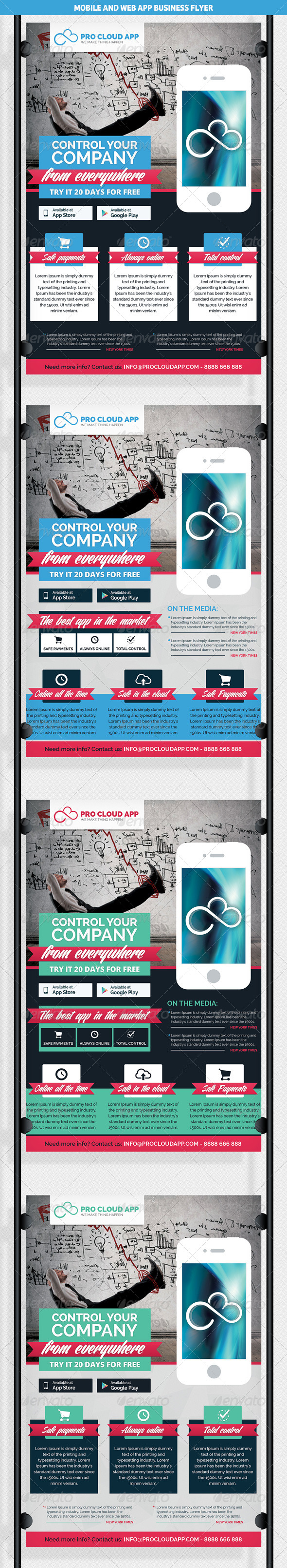 Mobile & Web App Business Flyer - Commerce Flyers