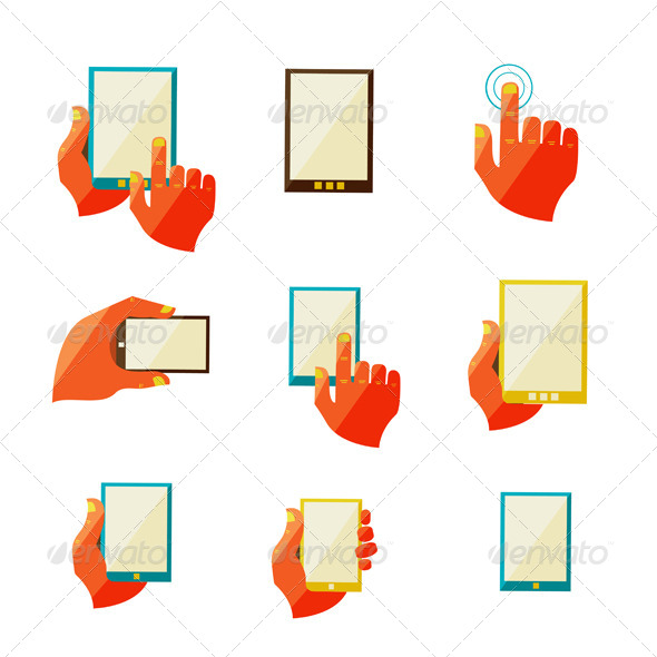 Mobile Communication Flat Icons - Communications Technology