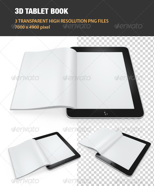 3D Tablet Book - Objects 3D Renders