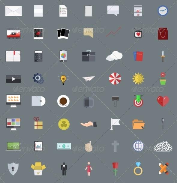 Modern Flat Design Icons - Web Icons