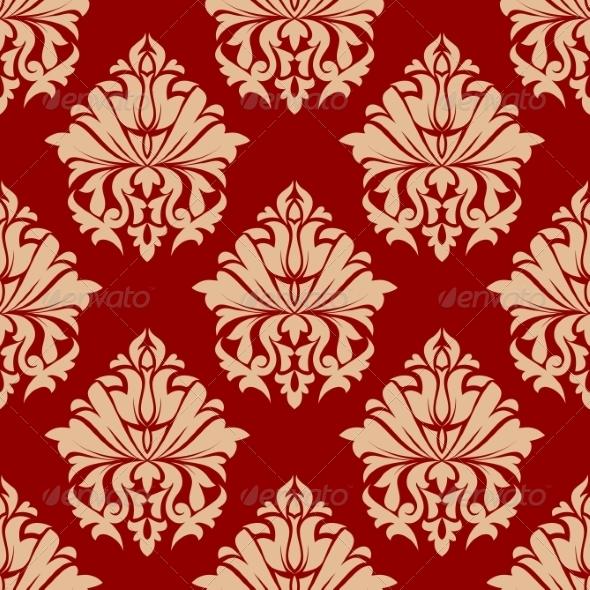 Retro Damask Style Arabesque Pattern - Patterns Decorative