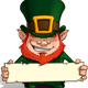 St. Patrick Holding a Label - GraphicRiver Item for Sale