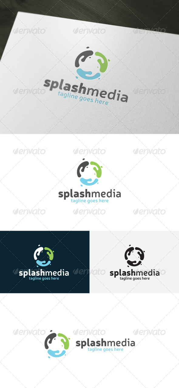 Splash Media Logo - Vector Abstract