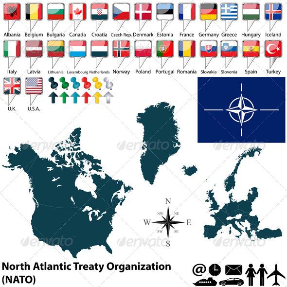 Map of Nato - Travel Conceptual