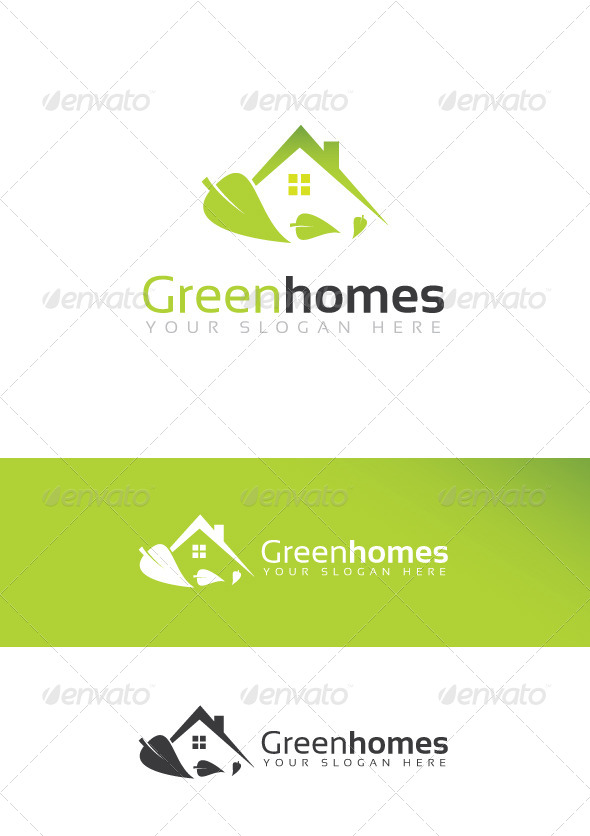 Green Homes Logo - Logo Templates