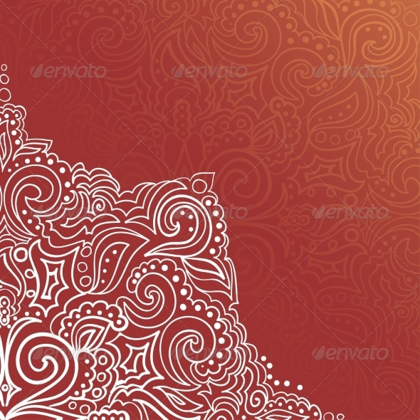 Background with Lace Ornament - Backgrounds Decorative