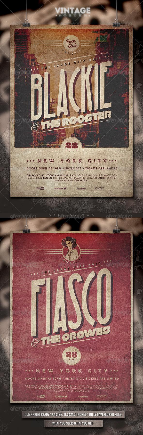 Vintage Poster - II - Concerts Events