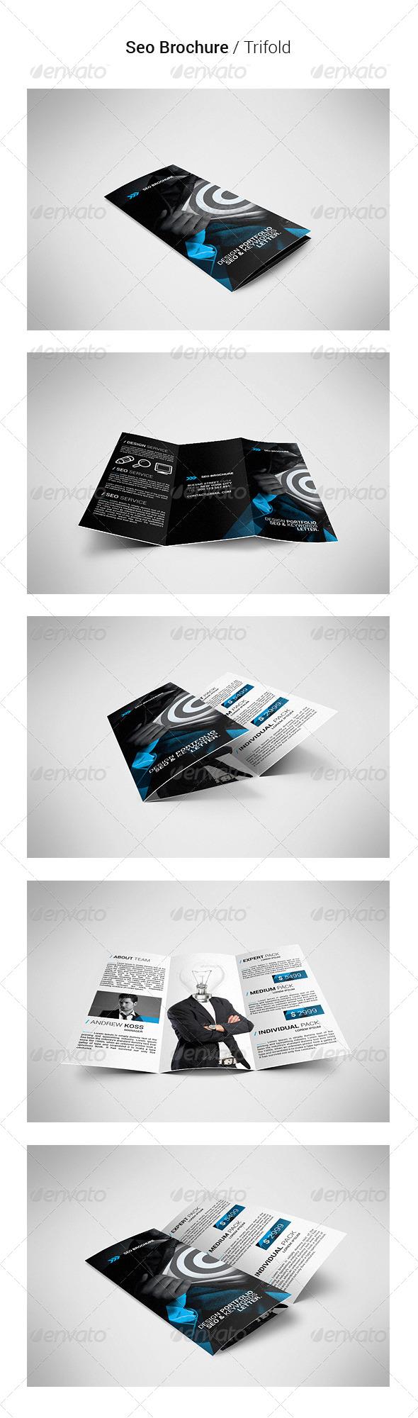 Seo Brochure Tri-Fold - Brochures Print Templates