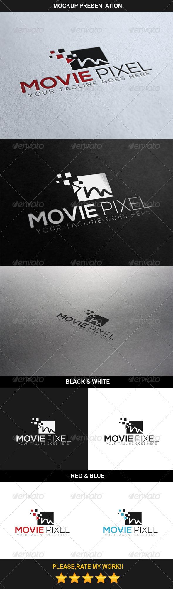 Movie Pixel Logo - Symbols Logo Templates