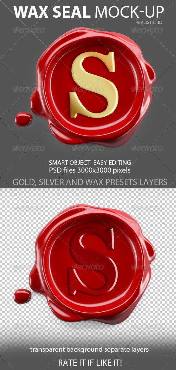 Wax Seal mockup - Product Mock-Ups Graphics