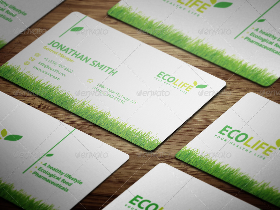 Ecology Business Card with Grass - 31 by nazdrag | GraphicRiver