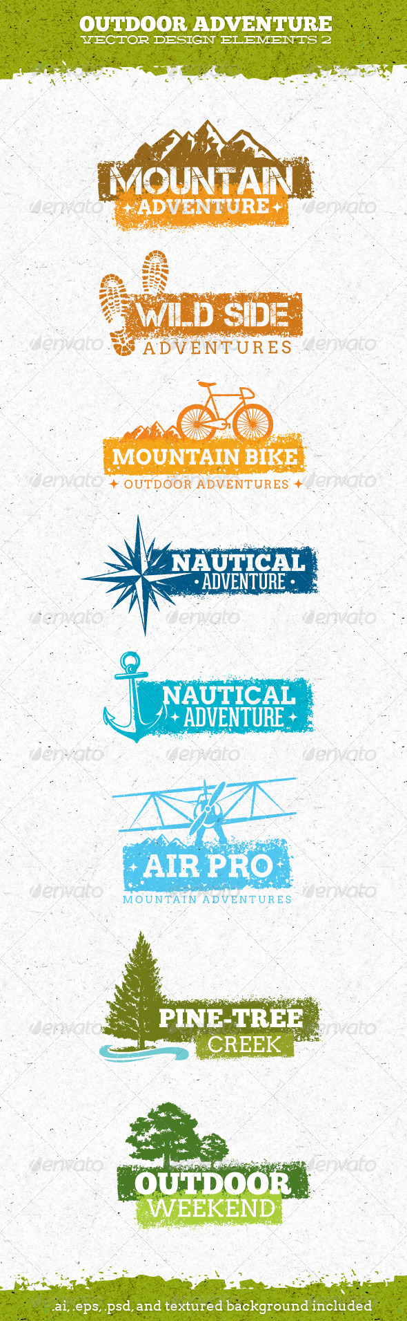 Outdoor Adventure Creative Vector Elements 2 - Sports/Activity Conceptual