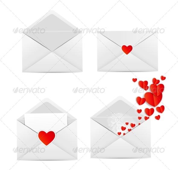 White Envelope Icon Vector Illustration - Web Technology