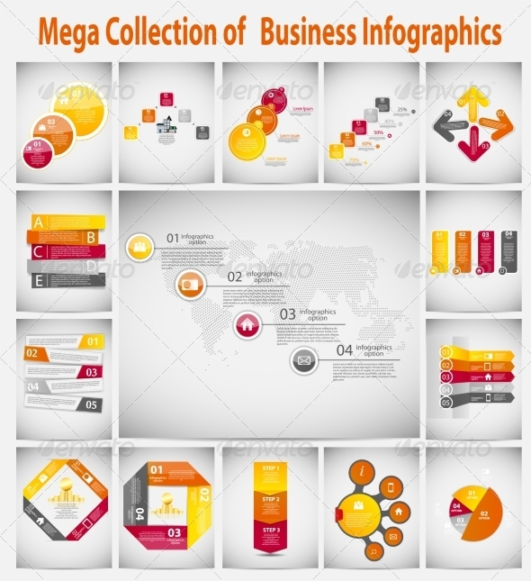 Mega Collection Infographic Template - Web Technology