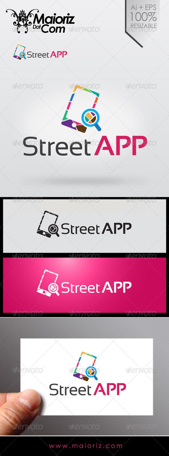 Street App Logo - Objects Logo Templates