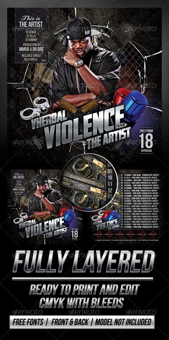 Vherbal Violence (Mixtape Cover) - CD & DVD Artwork Print Templates