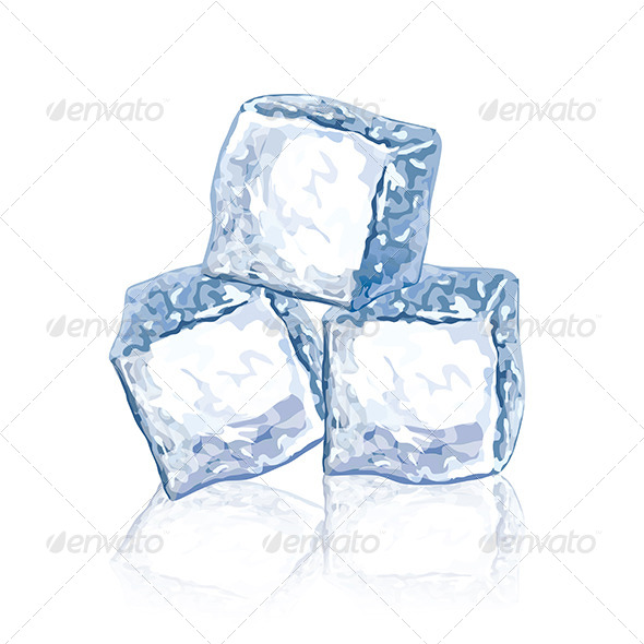 Ice Cubes - Food Objects