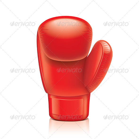 Red Boxing Glove  - Sports/Activity Conceptual