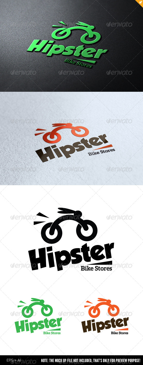 Hipster Bike Stores - Animals Logo Templates