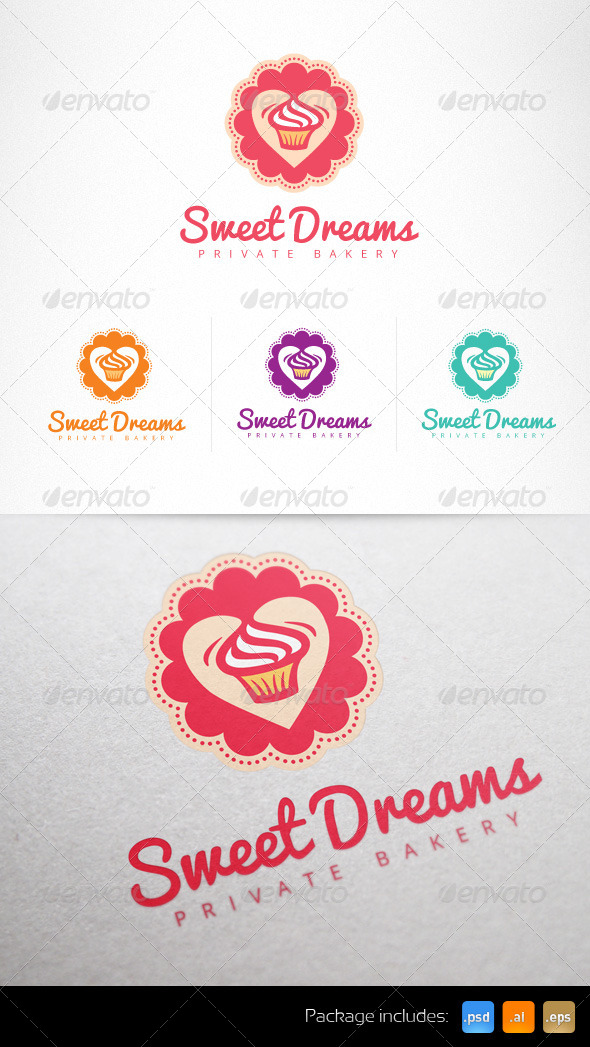 Cupcake Confectionery Sweet Shop Logo - Food Logo Templates