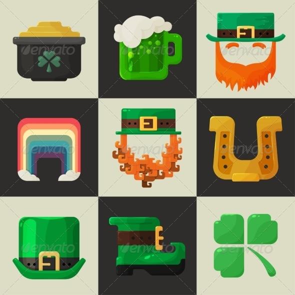 St. Patricks Day Icons - Miscellaneous Seasons/Holidays