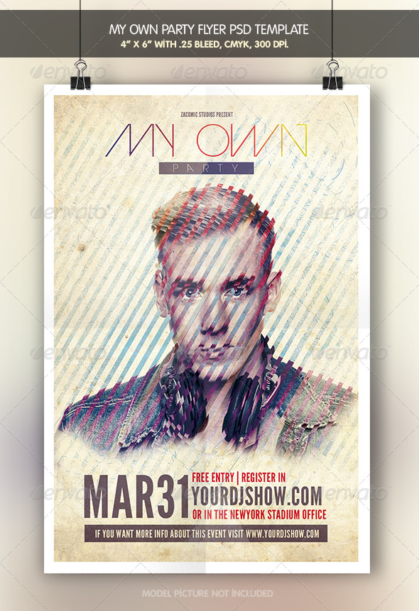 My Own Party | Flyer Template - Clubs & Parties Events