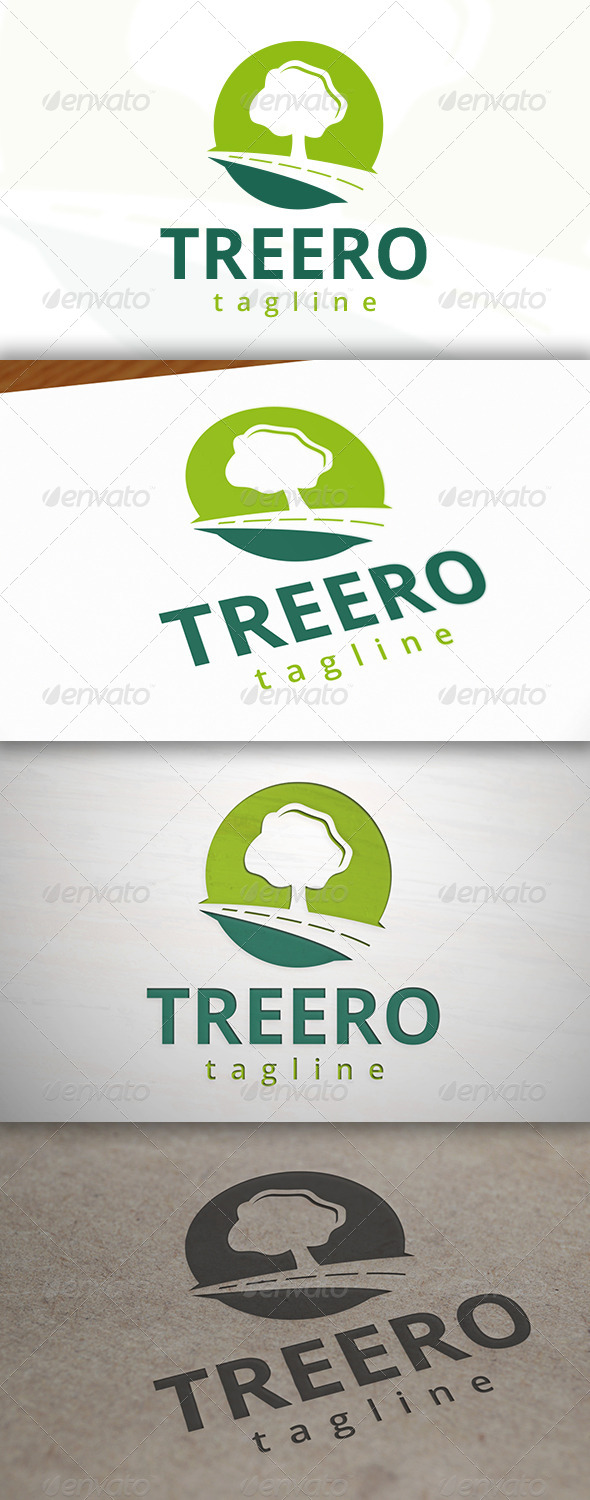 Tree Road Logo - Nature Logo Templates