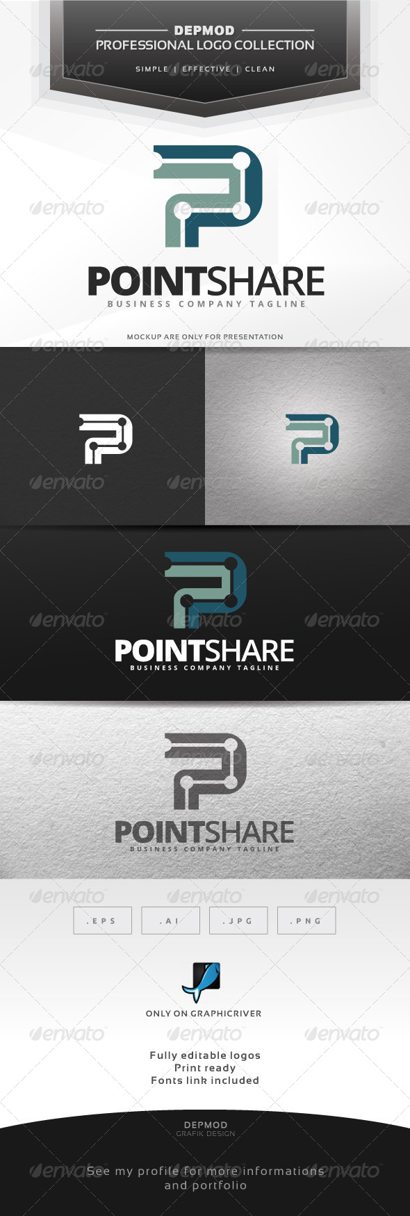 Point Share Logo - Letters Logo Templates