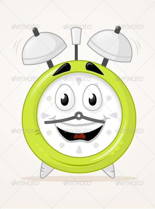 Alarm Clock Character - Objects Vectors