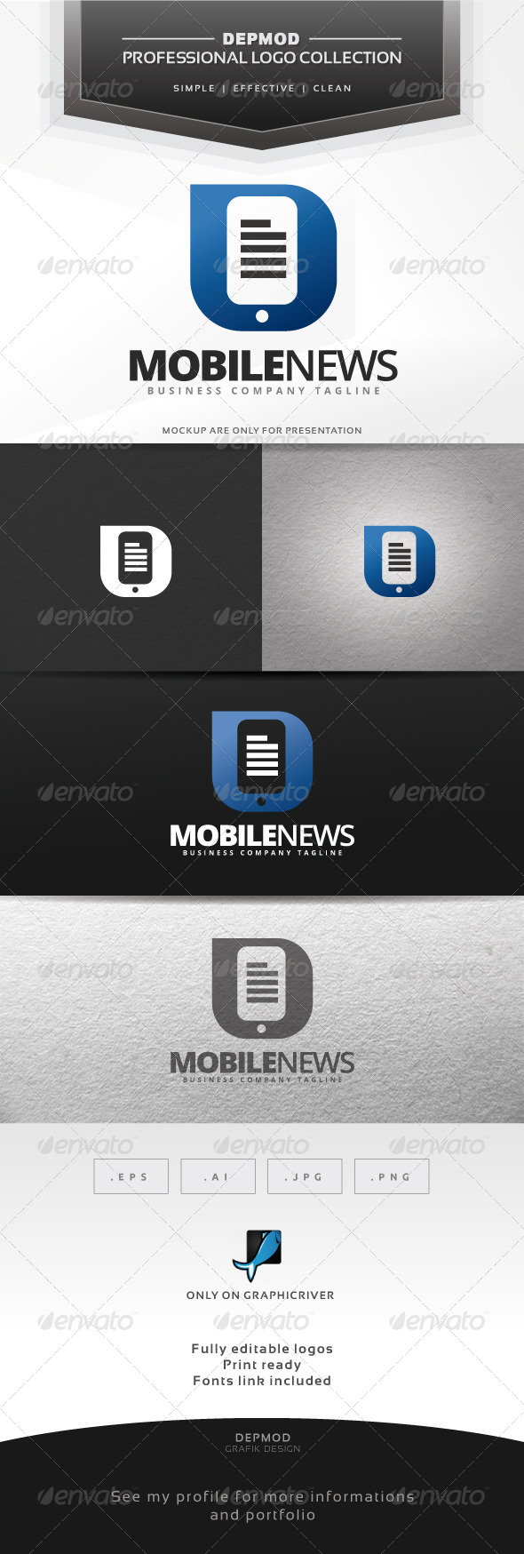 Mobile News Logo - Symbols Logo Templates