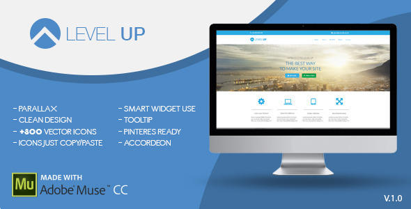 Level Up | One Page Muse Template