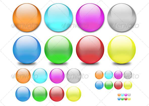 Classic Web 2.0 Shiny Orbs - Decorative Symbols Decorative
