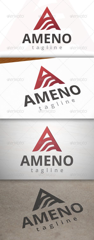 Ameno A Letter Logo - Letters Logo Templates