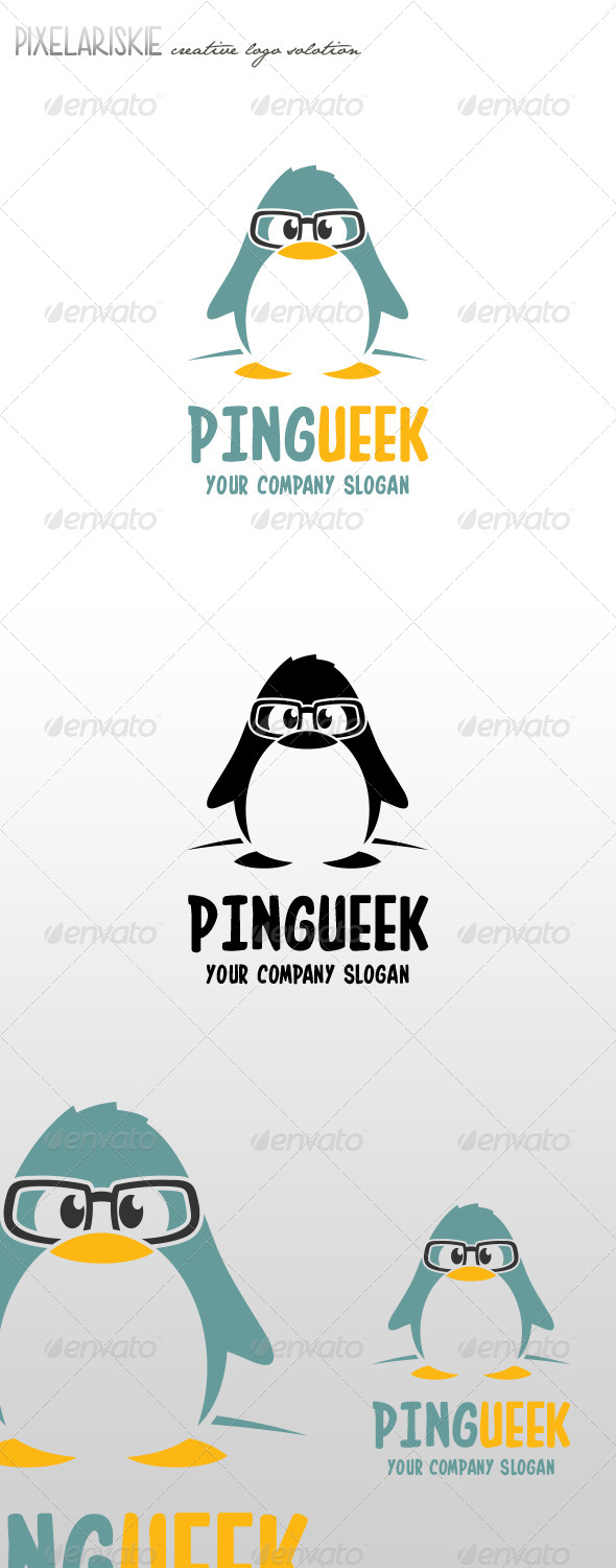 Pingueek Little Pinguin Logo - Animals Logo Templates