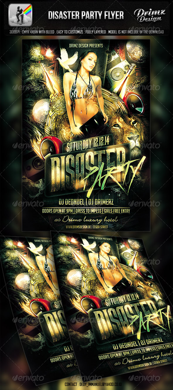 Disaster Party Flyer - Events Flyers
