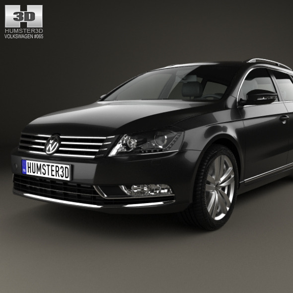 volkswagen passat b7 variant 2011 by humster3d 3docean. Black Bedroom Furniture Sets. Home Design Ideas