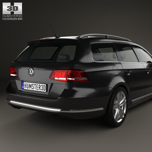 volkswagen passat b7 variant 2011 by humster3d 3docean. Black Bedroom Furniture Sets. Home Design Ideas